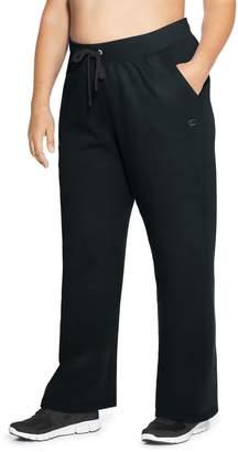 Champion Plus Size Open Bottom Fleece Pants