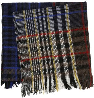 Small Plaid Wool Blend Scarf $300 thestylecure.com
