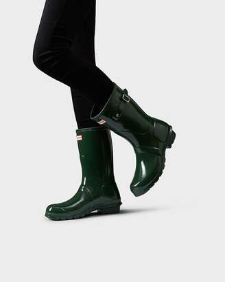 ebe14ef4e Hunter women's original short gloss wellington boots