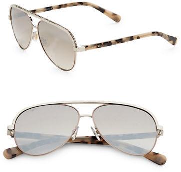 Jimmy ChooJimmy Choo Linas 59MM Metal Aviator Sunglasses