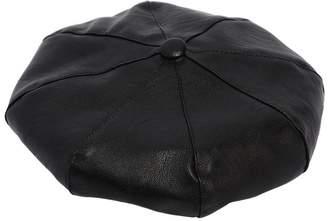Ermanno Scervino Faux Leather Beret