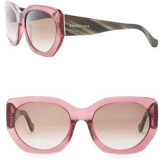 Balenciaga 57mm Oversized Plastic Sunglasses