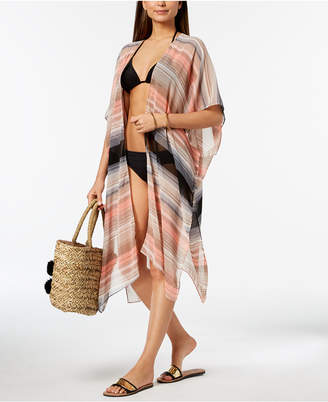 Cejon Melrose-Stripe Duster Cover-Up & Cape