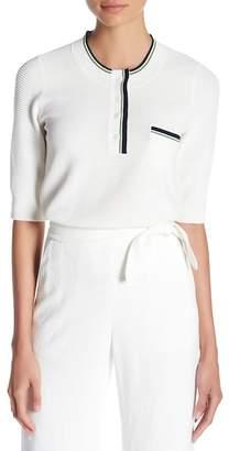 Veronica Beard Chip Stitch Textured Shirt