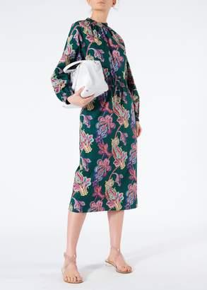 Tibi Paisley On Cotton Pull On Skirt