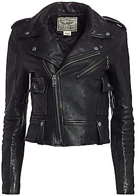 Polo Ralph Lauren Women's Leather Moto Jacket