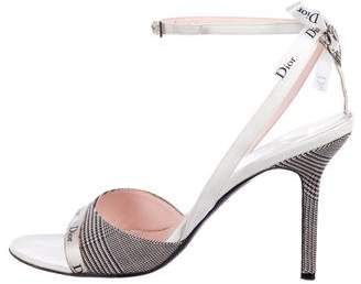 Christian Dior Logo Ankle-Strap Sandals