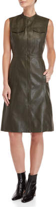BCBGMAXAZRIA Alexandria Faux Leather Dress