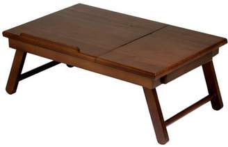 Alden Winsome Trading Winsome Lap Desk/Bed Tray with Drawer, Walnut