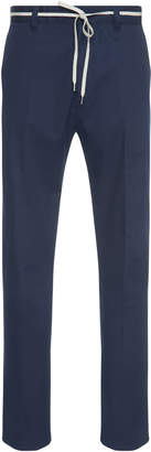 Lanvin Belted Slim-Fit Stretch-Cotton Twill Pants