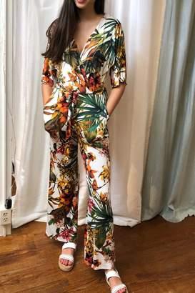 Veronica M Tropical Print Jumpsuit