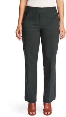Chaus Zipper Pocket Straight Leg Pants
