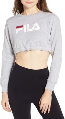 Fila Snap Sleeve Crop Sweatshirt
