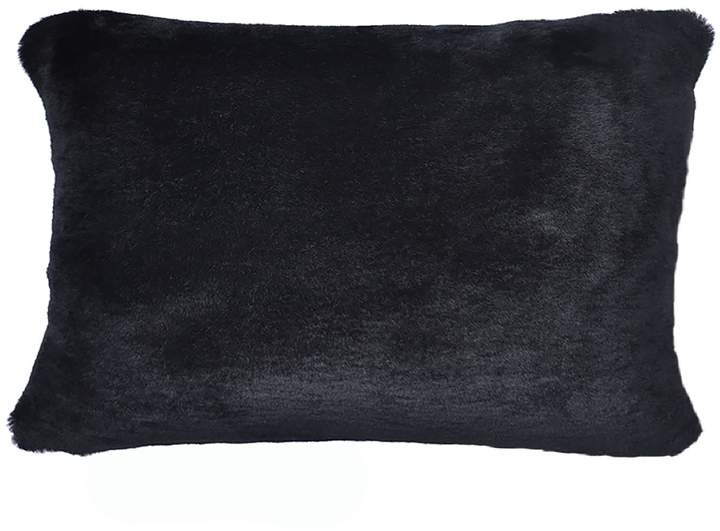 ONE NINE EIGHT FIVE – Sheepskin Bolster Cushion Black