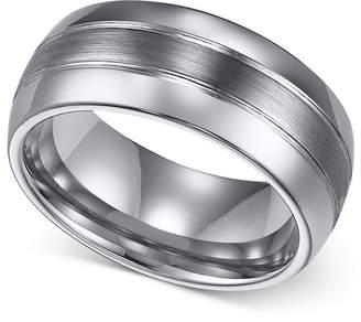 Triton Men Ring, 8mm Classic Tungsten 3-Row Wedding Band