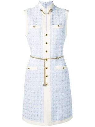Gucci Sleeveless Tweed Mini Dress