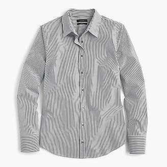 J.Crew Petite slim perfect shirt in striped stretch cotton