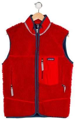 Patagonia Boys' Textured Zip-Up Vest