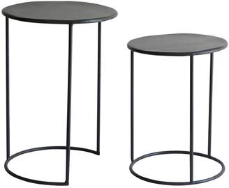 French Country Collections Phillip Iron Nesting Side Tables Set/2