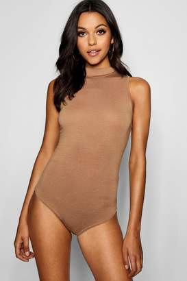 boohoo Tall High Neck Sleeveless Bodysuit