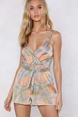 Nasty Gal The Price You Paisley Romper