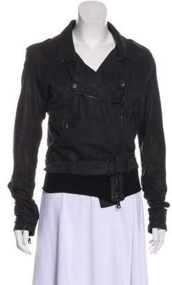 Giorgio Brato Textured Leather Biker Jacket w/ Tags