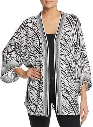 Single Thread Zebra Print Kimono Cardigan