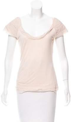 Diane von Furstenberg Ruffle-Accented Short Sleeve Top