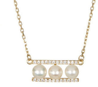 Silver Mama Silver 14K Over Silver Pearl & Crystal Necklace