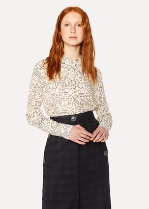 Paul Smith Women's 'Domino' Print Silk Shirt