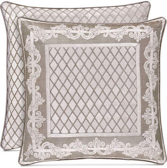 """J Queen New York Bel Air Sand 20"""" Square Decorative Pillow Bedding"""