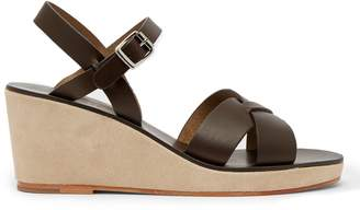 A.P.C. Judith leather wedge sandals