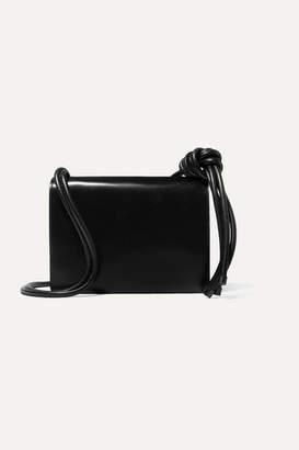 Dries Van Noten Knotted Large Leather Shoulder Bag - Black