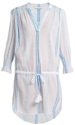 Heidi Klein Gilli Smocked Cotton Tunic - Womens - Blue Stripe
