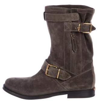 Burberry Grantville Suede Boots w/ Tags