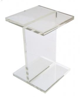 Pin It Gus Modern Acrylic I-beam Table