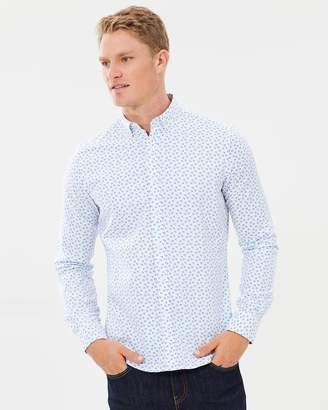 Brooksfield Floral Print Casual Shirt