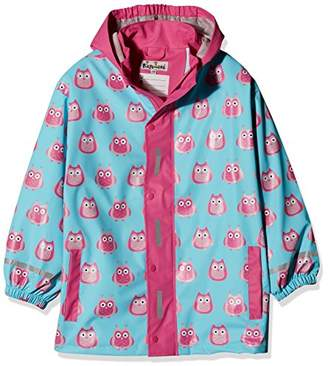 Playshoes Girl's Waterproof Rain Jacket Owl Raincoat,98