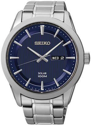 Seiko Mens Stainless Steel Solar Watch SNE361