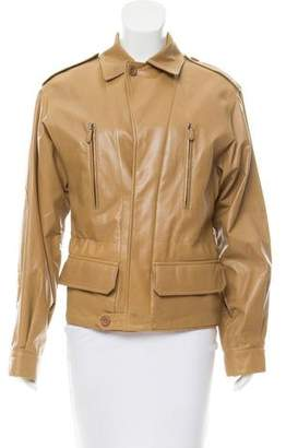 Reed Krakoff Leather Long Sleeve Jacket