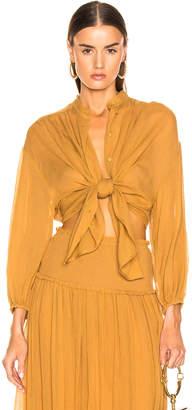 Zimmermann Wayfarer Crinkle Shirt in Mustard | FWRD