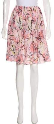 Miu Miu Silk Knee-Length Skirt