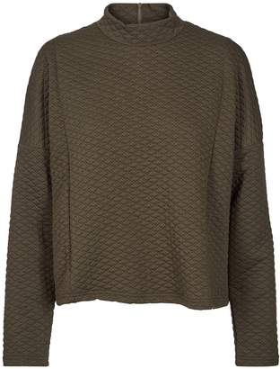Nümph High Neck Quilted Sweatshirt