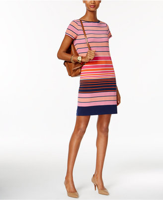 MICHAEL Michael Kors Striped Boat-Neck Shift Dress $98 thestylecure.com