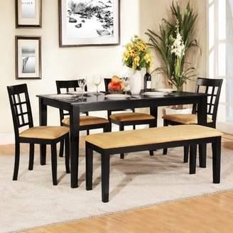 Andover Mills Oneill Modern 6 Piece Wood Dining Set