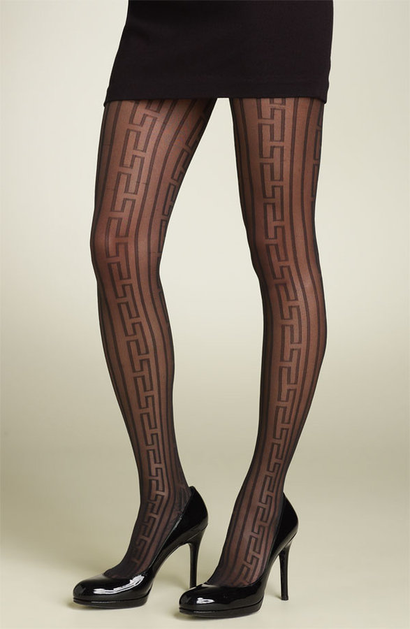 Trina Turk by Hue Geometric Stripe Tights
