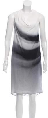Helmut Lang Draped Printed Dress