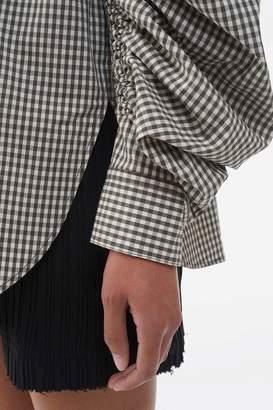3.1 Phillip Lim Gathered-Sleeve Gingham Shirt