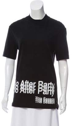 Alexander Wang No After Party Short Sleeve Top