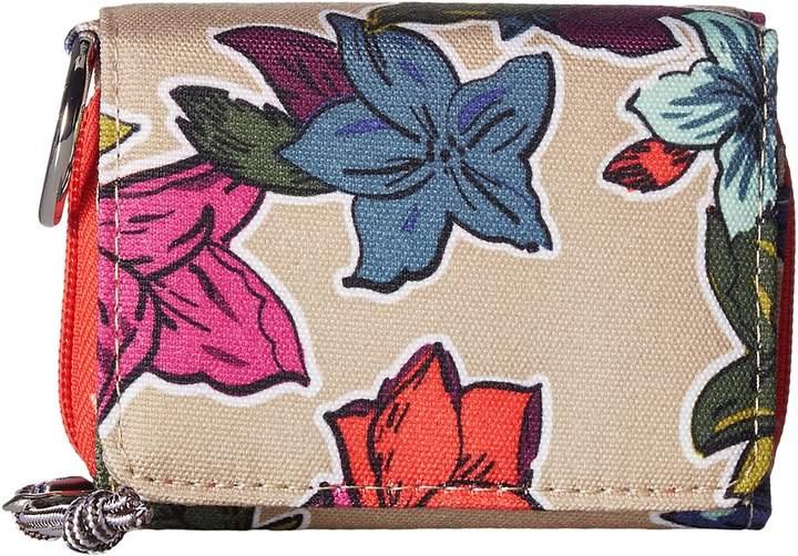 Vera Bradley Lighten Up Rfid Card Case Credit card Wallet - FALLING FLOWERS NEUTRAL - STYLE